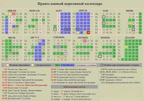 церковный православный календарь на август 2018 года